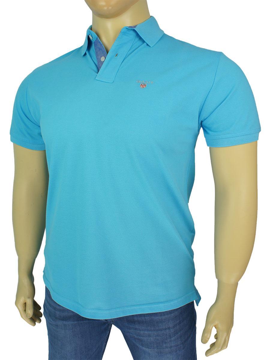 Блакитна чоловіча теніска 4635 великого розміру