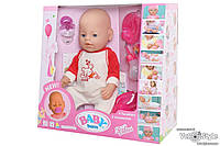 Пупс Baby Born Беби Борн с аксессуарами №10 (плачет,кушает,пьёт,ходит на горшок...)