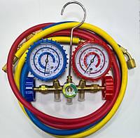 Манометрический коллектор двухвентильный CT-536G R-12,22,502 + 3x90см Whicepart