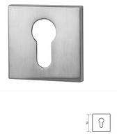 Накладка VDS  Fit  под цилиндр (ключ) хром-сатин