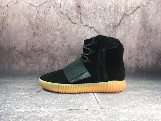 """Мужские кроссовки Adidas Yeezy Boost 750 """"Black Gum""""  продажа, цена ... 2de3fedb1d1"""