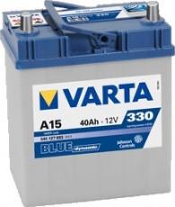 Аккумулятор VARTA Blue Dynamic A15 (540127033) 6СТ-40, 330En, габариты 227х127х187, гарантия 24 мес.