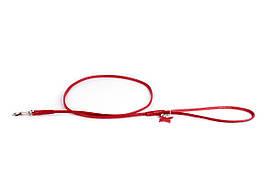 Круглый кожаный поводок Collar Гламур 122 см 10 мм