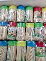 Зубочистки бамбук 120 шт. в баночке