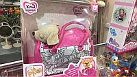 Музыкальная собачка Кикки, собачка в одежде, сумка в комплекте