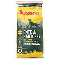 Сухой корм 1,5 кг из мяса утки и картофеля для собак с чувствительным пищеварением (24/14) Йозера Ente & Kartoffel Josera
