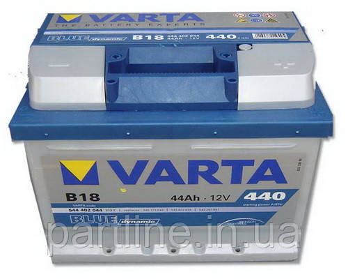 Аккумулятор VARTA Blue Dynamic В18 (544402044) 6СТ-44, 440En, габариты 207х175х175, гарантия 24 мес.