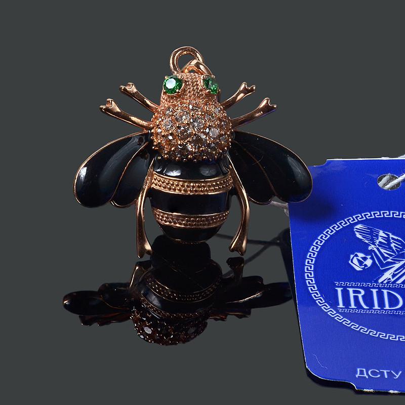 Серебряная подвеска с позолотой Пчелка