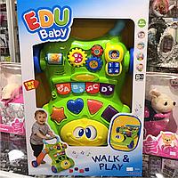 Каталка ходунки, Edu Baby музыкальный walk play keenway
