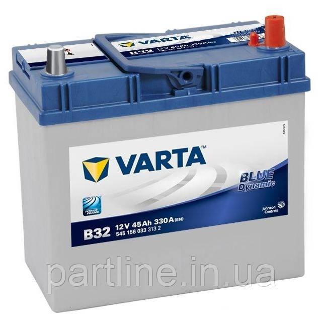 Аккумулятор VARTA Blue Dynamic В32 (545156033) 6СТ-45, 330En, габариты 238х129х227, гарантия 24 мес.