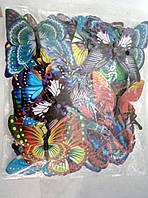 Бабочки 3D на магните пластиковые
