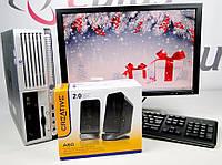 Комплект ПК HP Compaq dc7700 SFF 160 GB 2 GB(DDR 2) IC2D 1.8-DELL 2009WT+Подарки