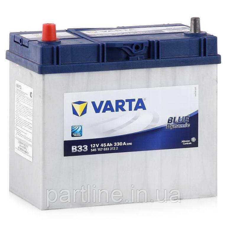 Аккумулятор VARTA Blue Dynamic В33 (545157033) 6СТ-45, 330En, габариты 238х129х227, гарантия 24 мес.