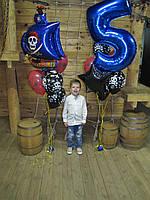"""Воздушные шарики на день рождения """"Пиратский набор"""""""