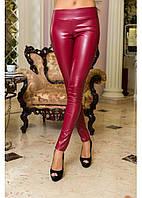 Лосины - брюки кожаные утепленные на флисе, фото 1