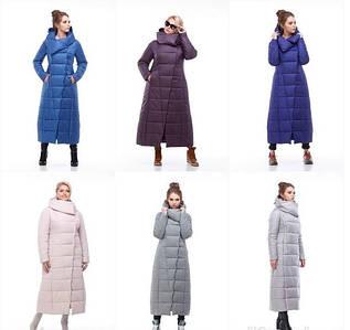 Женское длинное зимнее теплое пальто Комильфо
