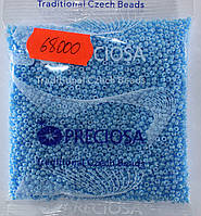 Бисер 10/0, цвет - светло-голубой перламутровый, №68000 (уп.50 грамм)