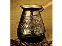 """Медная турка для кофе 500 мл Цветы """"СТОРЧАЙ"""""""