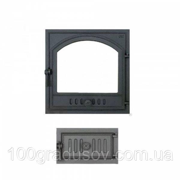 Комплект дверец для камина герметичный SVT 410-433