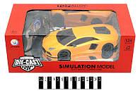 Радио управляемый Машина коллекц Lamborghini 1:24 метал-пластик на аккумуляторе в коробке 30*15,6*11,1 см