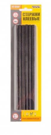 Стержни клеевые 7,2х200 мм черные 12 шт MasterTool 42-0158, фото 2