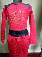 Детское платье шанель в стразах 4-7лет