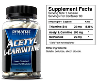 Ацетил l-карнитин, Dymatize Nutrition, Acetyl L-Carnitine, (500mg) 90 caps