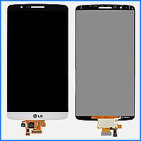 Дисплей (экран) для LG D724 G3s Dual Sim + тачскрин, белый, оригинал