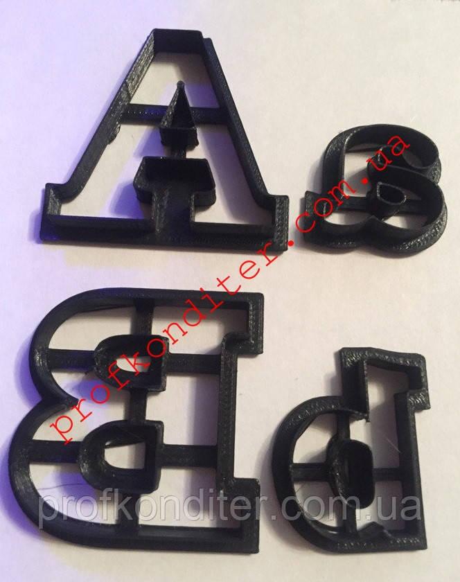Двойной набор вырубок Алфавит АНГЛИЙСКИЙ, большие и маленькие