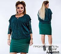 Красивое женское платье  масло+кружево+украшение  размеры:  46,48,50,52,54,56,58,60