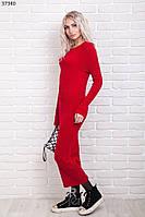 Длинное женское вязаное платье р.44-46 AR37340-6