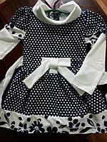 Детское  платье в горошек 2-3года