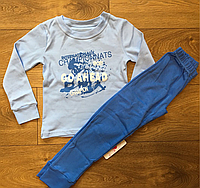 Пижама трикотажная для мальчика на рост 110 Фламинго , фото 1
