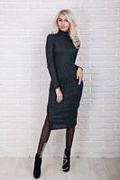 Трикотажное женское платье миди р.44-48 AR84080-1