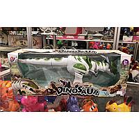 Музыкальный динозавр, детский динозавр зелёный
