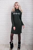 Теплое женское платье трикотаж р.44-48 AR99180-2