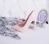 Туфельки лодочки  материал эко-кожа лак  цвет нежно розовый  р 39, фото 1