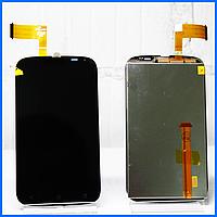 Дисплей (экран) для HTC Desire V T328w с тачскрином в сборе, цвет черный