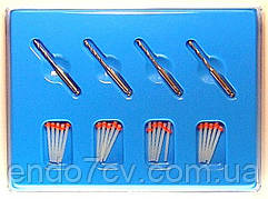 Fiber post ,штифти стекловолоконные 1.4 mm 20 шт. + 4 развёртки