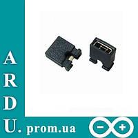 Стандартная перемычка джампер (Jumper) 2 pin 2.54mm, 100 шт. [#M-1]