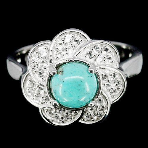 Бирюза, серебро 925, кольцо, 1034КЦБ