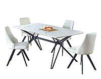 Стол обеденный деревянный раскладной PASCAL 160÷200 Halmar  белый