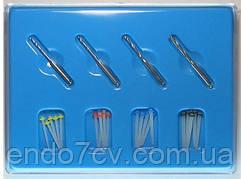 Fiber post ,штифти стекловолоконные  1.0/1.2/1.4/ 1.6mm по 5 шт. + 4 развёртки