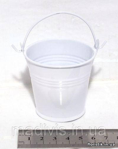 Ведерко декоративное 5,5 см., белое
