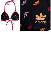 100% Оригинал верх купальника топ для занятий фитнессом на завязках Аdidas Originals Damen Bikini