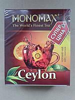 Чай Мономах Ceylon Цейлон 100*1,5г черный, в пакетиках