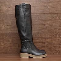 7096.1| (37; 38) Женские сапоги зимние на низком каблуке и платформе