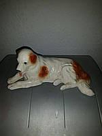 Статуэтка фарфоровая собака старая Германия