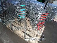 Корзины металические покупательские 19 Л. б у., покупательские корзины б/у, фото 1