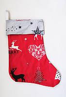 Новогодний Рождественский сапожок на камин для подарков подарочная упаковка, фото 1